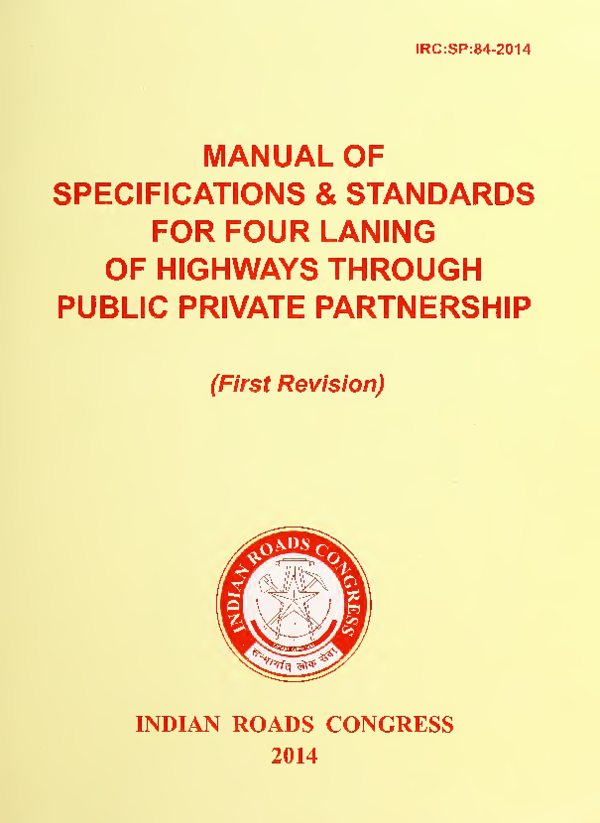 PDF) IRC:SP:84-2014 MANUAL OF SPECIFICATIONS & STANDARDS FOR FOUR
