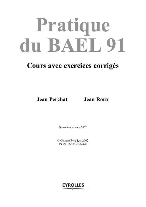PRATIQUE 91 BAEL TÉLÉCHARGER DU