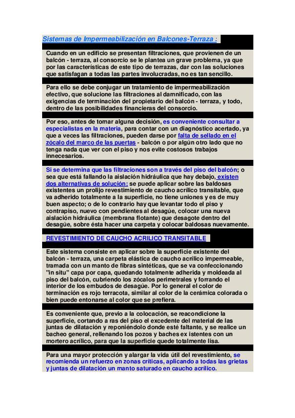 Doc Sistemas De Impermeabilización En Balcones Juan