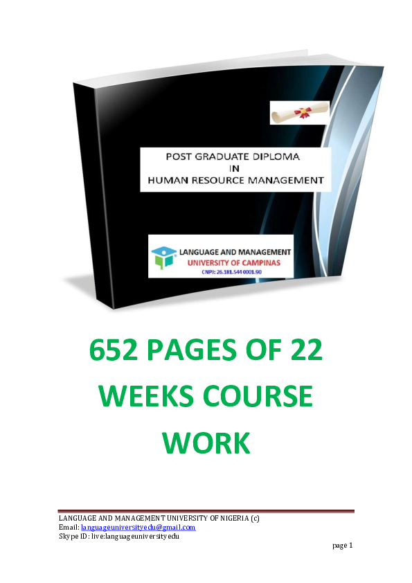 PDF) 652 PAGES OF 22 WEEKS COURSE WORK | Victor Chinoyerem Nwadike