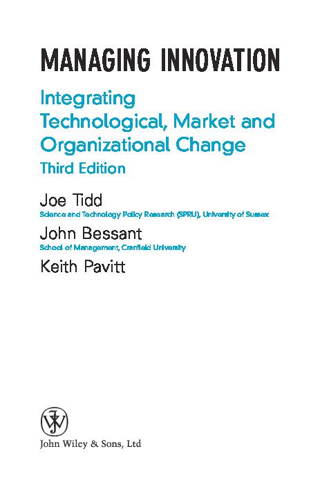 PDF) LIBRO-managing innovation-3ed_Tidd.pdf   Roberto Baskin ...