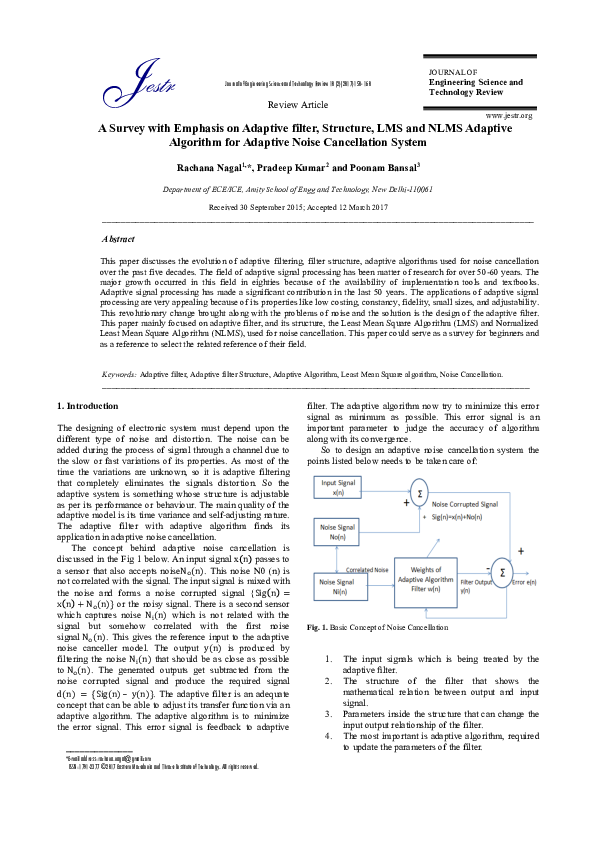 Adaptive implementation subband pdf and filtering theory
