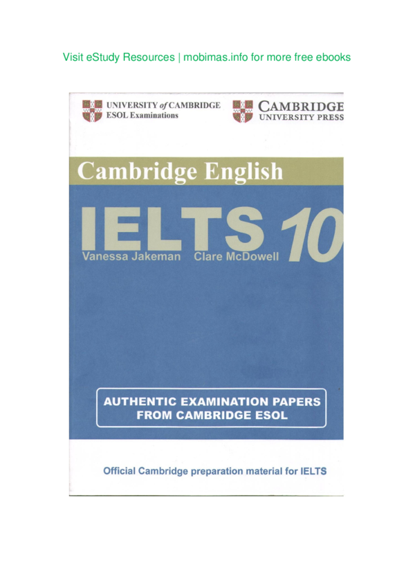 PDF) CAMBRIDGE IELTS | Mandy Wong - Academia edu