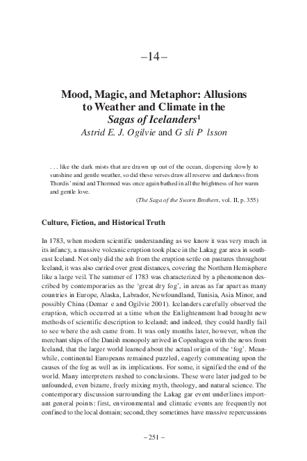 PDF) Mood, Magic, and Metaphor: Allusions to Weather and
