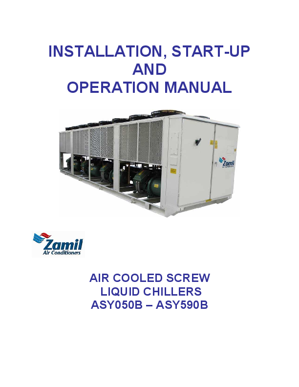 PDF) INSTALLATION, START-UP AND OPERATION MANUAL AIR COOLED ... on
