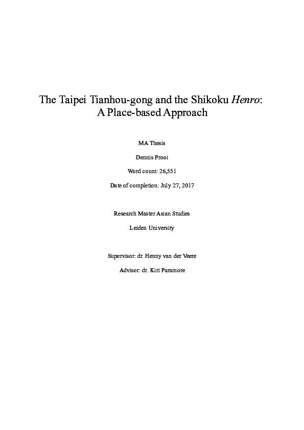 PDF) The Taipei Tianhou-gong and the Shikoku Henro: A Place-based