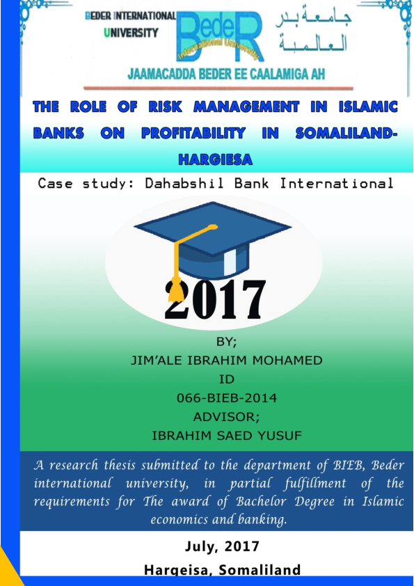 Risk Management in Islamic Banking | Islamic Bankers Resource Centre