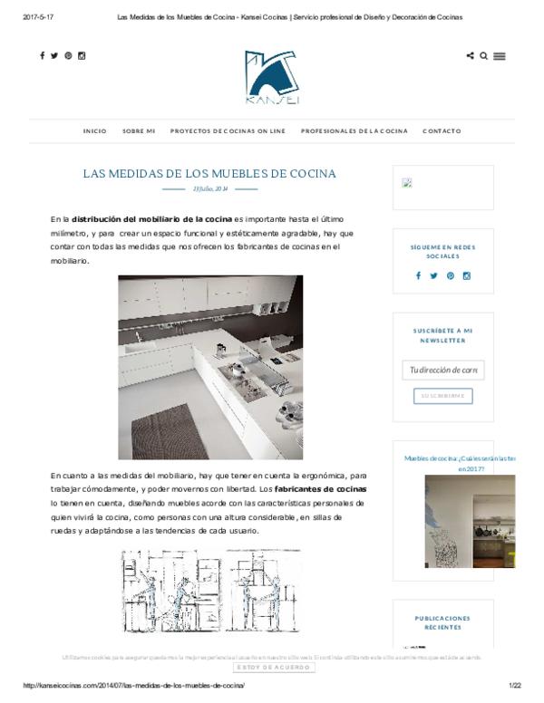 PDF) LAS MEDIDAS DE LOS MUEBLES DE COCINA | Antonio Menendez ...