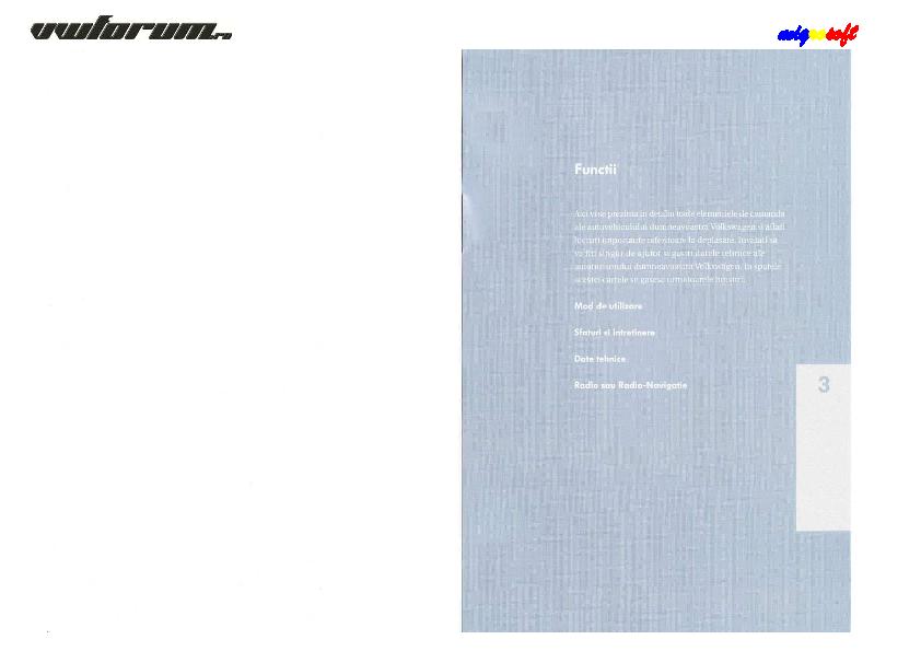 PDF) Manual de Utilizare Passat B6 RO   Eugen COTUNA