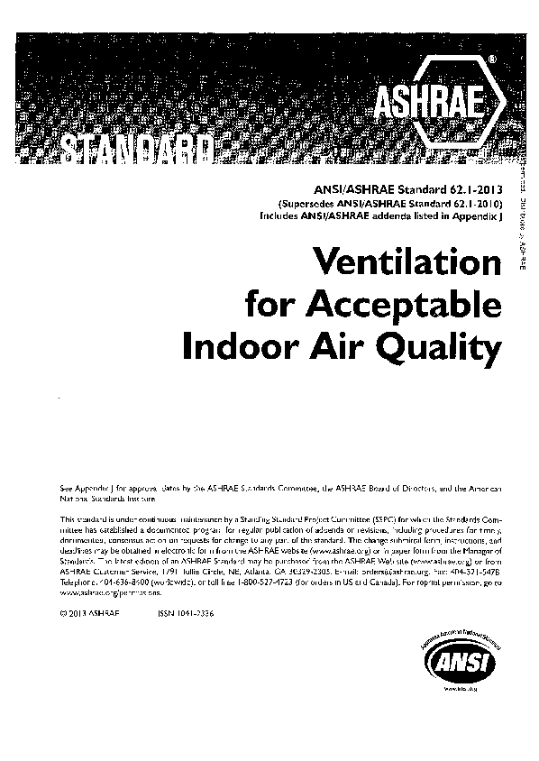 PDF) Ventilation for Acceptable Indoor Air Quality | Mostafa