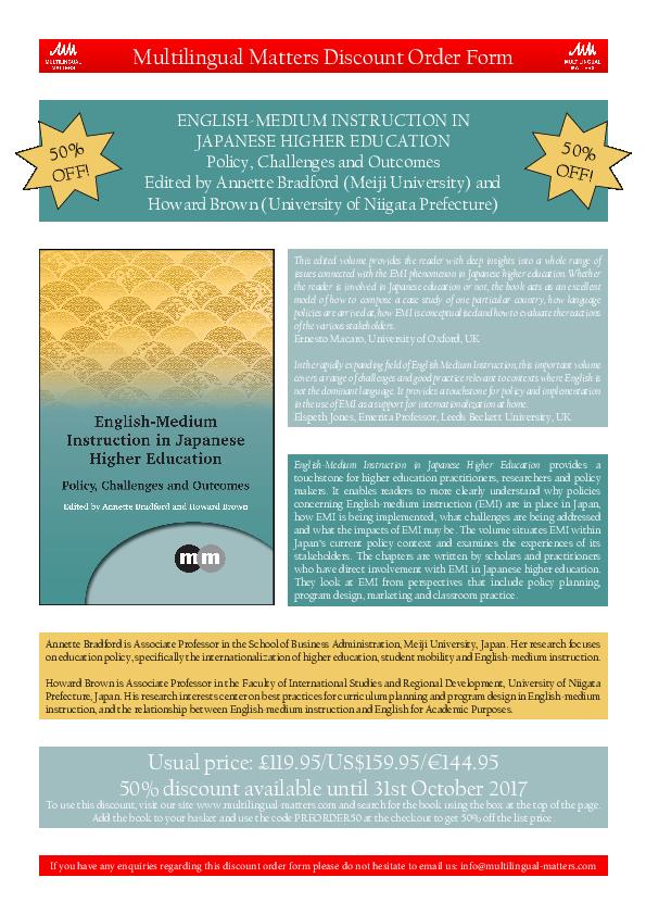 PDF) English-Medium Instruction in Japanese Higher Education
