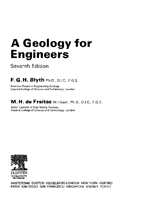 PDF) A Geology for Engineers Seventh Edition | Kelley lim