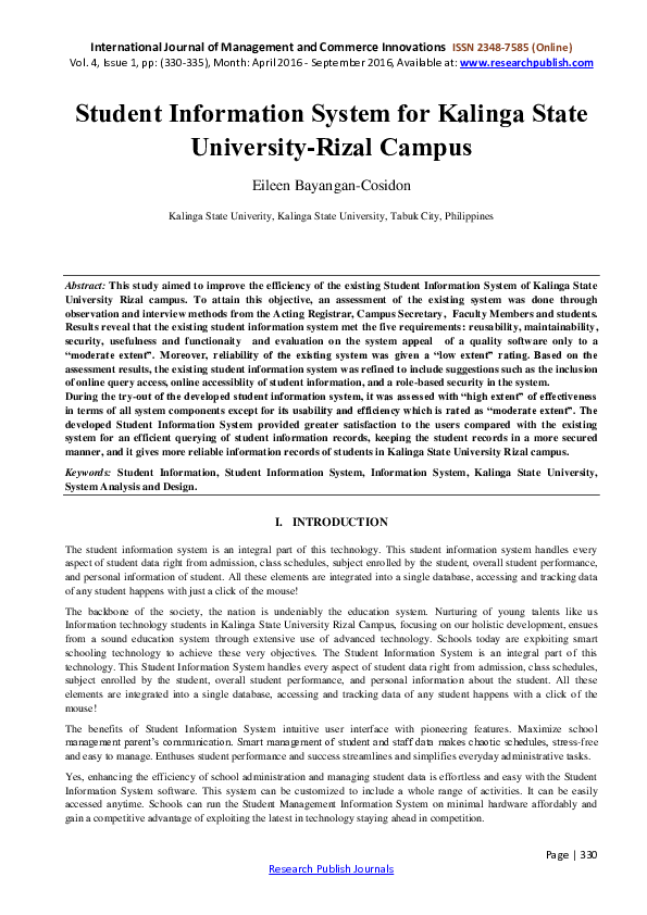 Thesis about student information system social research methods literature review