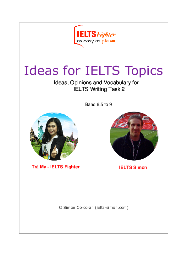PDF) Ideas for IELTS Topics Ideas, Opinions and Vocabulary for IELTS