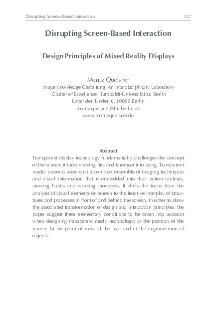 Interdisciplinary Interaction Design Pdf
