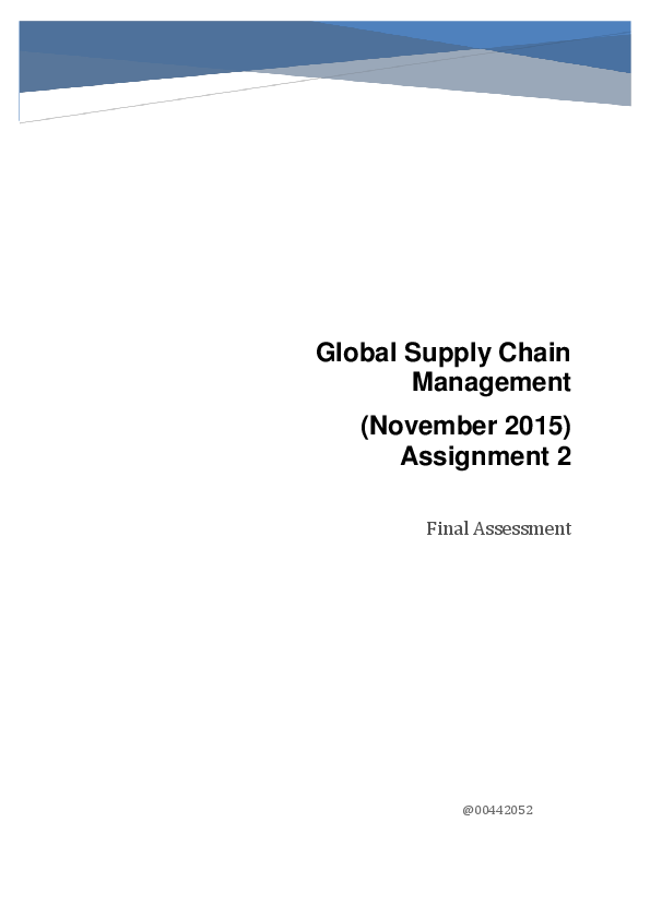 DOC) Global supply chain Management - case study Nike