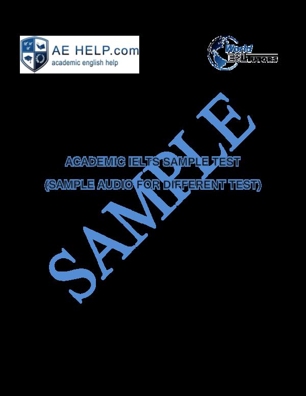 PDF) AEHelp com Academic IELTS Sample Test   Armand Cobreti