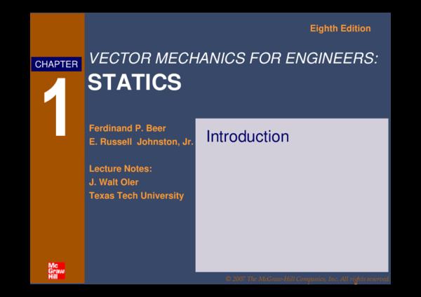 PDF) STATICS Eighth Edition | John Diloy - Academia edu