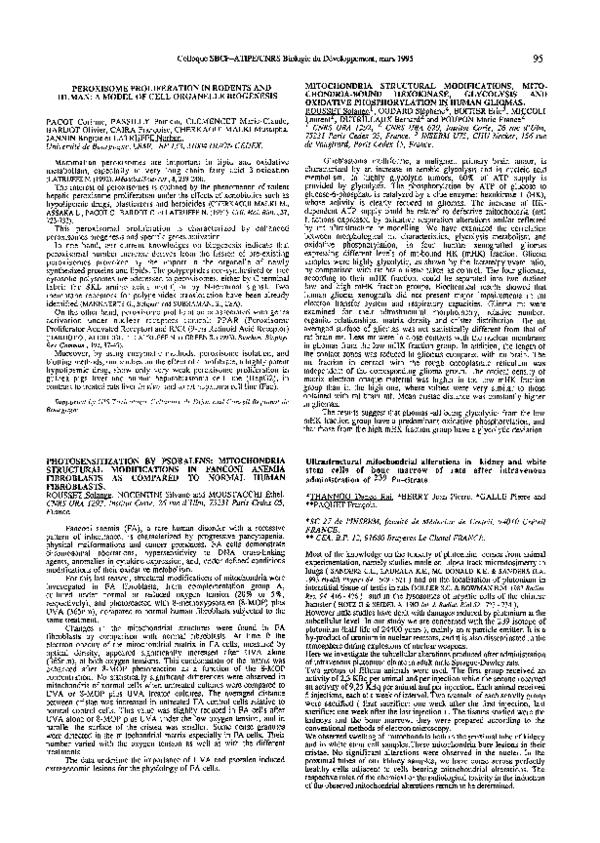 Pdf Mitochondria Structural Modifications Mitochondria