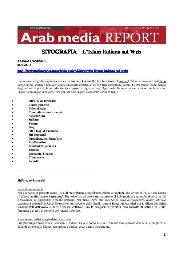 siti Web di incontri islamici gratuiti