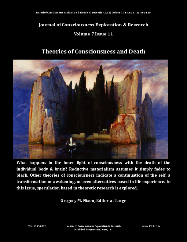 Theories Of Consciousness Death Jcer 711 Gregory M Nixon