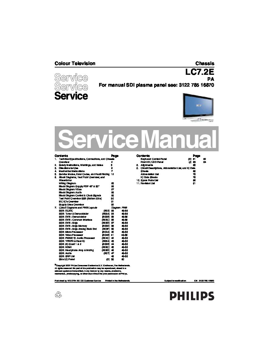PDF) Philips Chassis LC7 2E-PA 50PFP5532D | kostas kostas