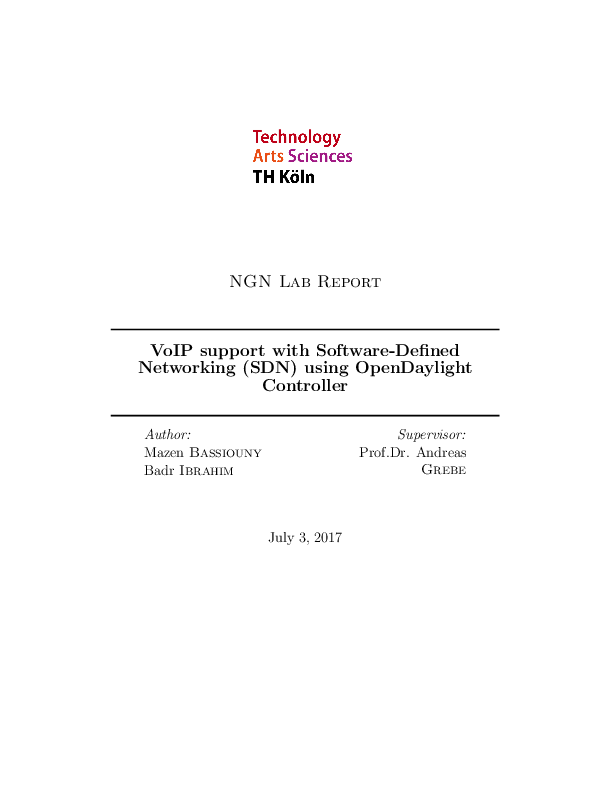 PDF) VoIP support with Software-Defined Networking (SDN