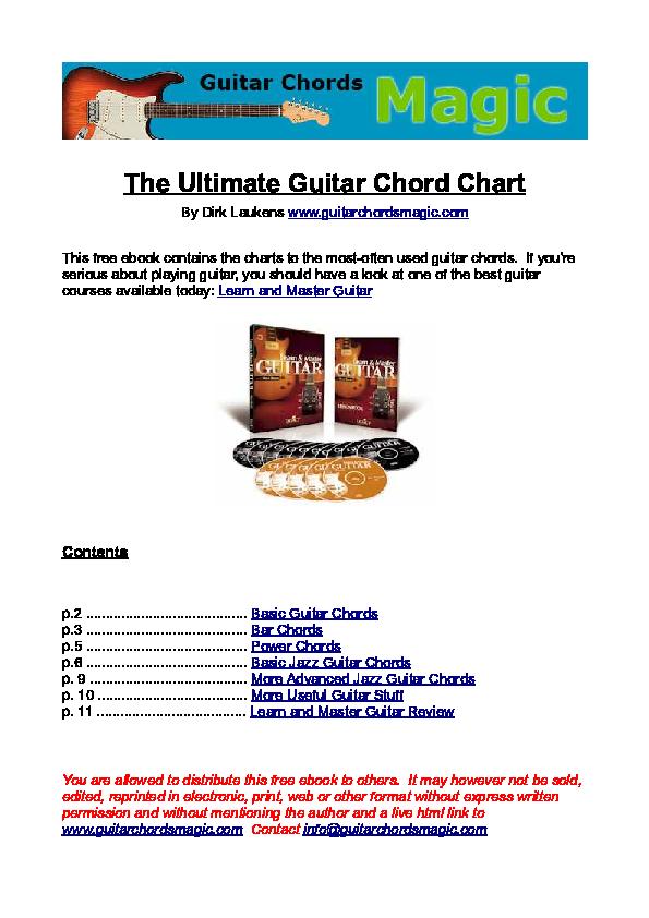 PDF) The Ultimate Guitar Chord Chart | Dave Zamora Rojas - Academia edu
