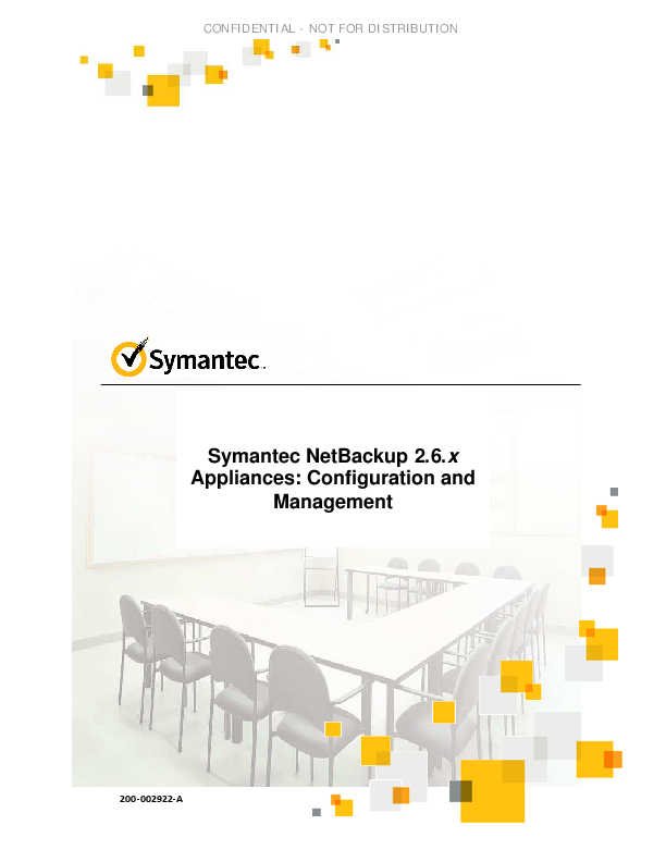 PDF) Symantec NetBackup 2 6 x Appliances: Configuration and