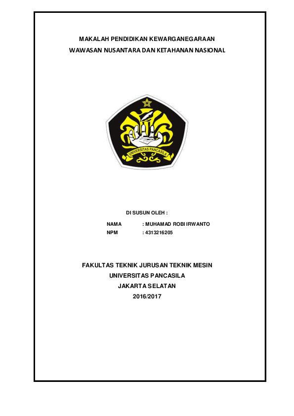 Makalah Wawasan Nusantara Dan Ketahanan Nasional Contoh Makalah