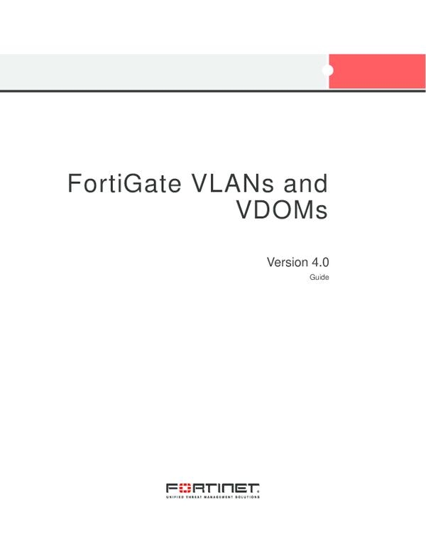 PDF) FortiGate VLANs and VDOMs Version 4 0 Guide | Felipe Abastante