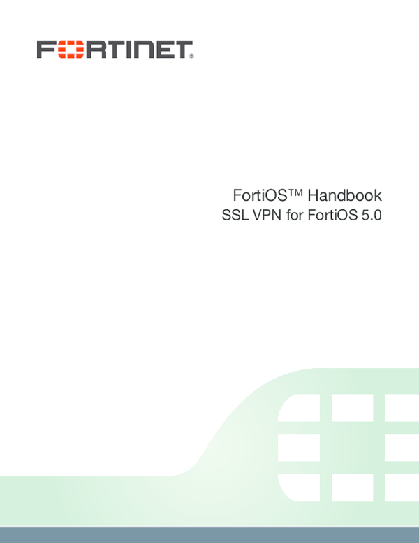 PDF) FortiGate sslvpn v50 pdf | Felipe Abastante - Academia edu