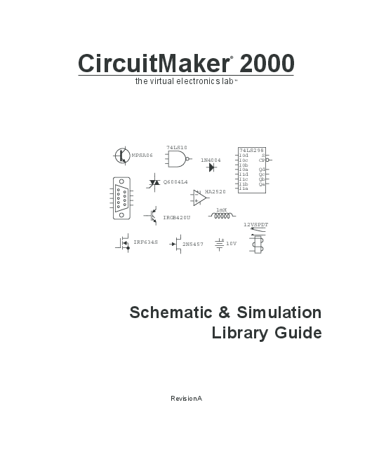 PDF) CircuitMaker 2000 Schematic & Simulation Library Guide