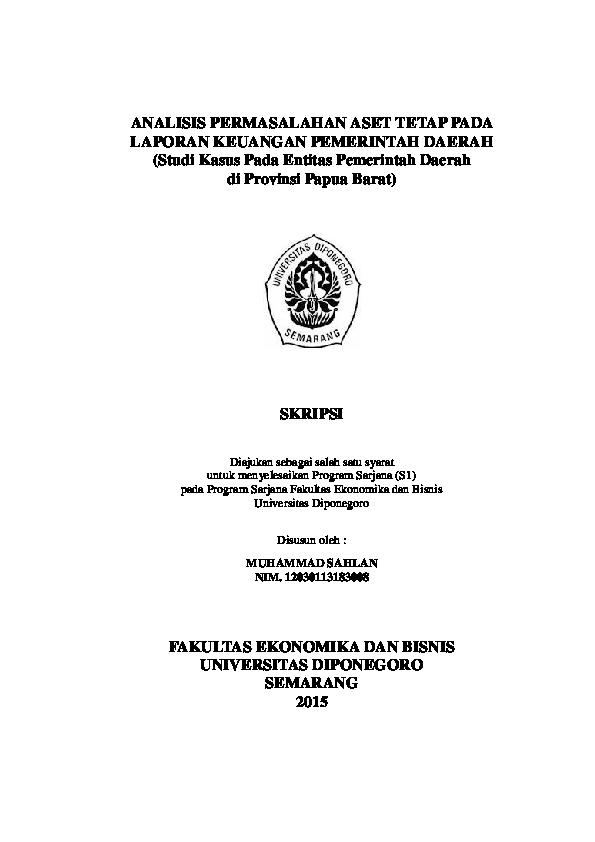 skripsi akuntansi pemerintahan pdf