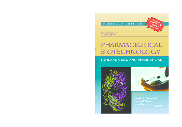 Pharmaceutical Biotechnology: Fundamentals and Applications, Third Edition