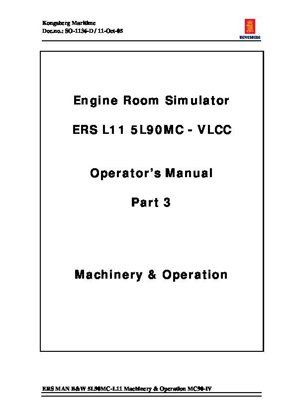 PDF) Engine Room Simulator ERS L11 5L90MC -VLCC Operator's Manual