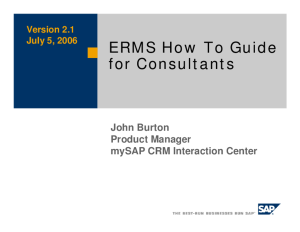 PDF) ERMS How To Guide | Vishal Kesar - Academia edu