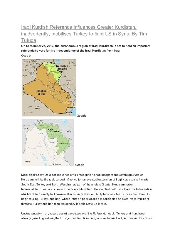 PDF) Iraqi Kurdish Referenda influences Greater Kurdistan