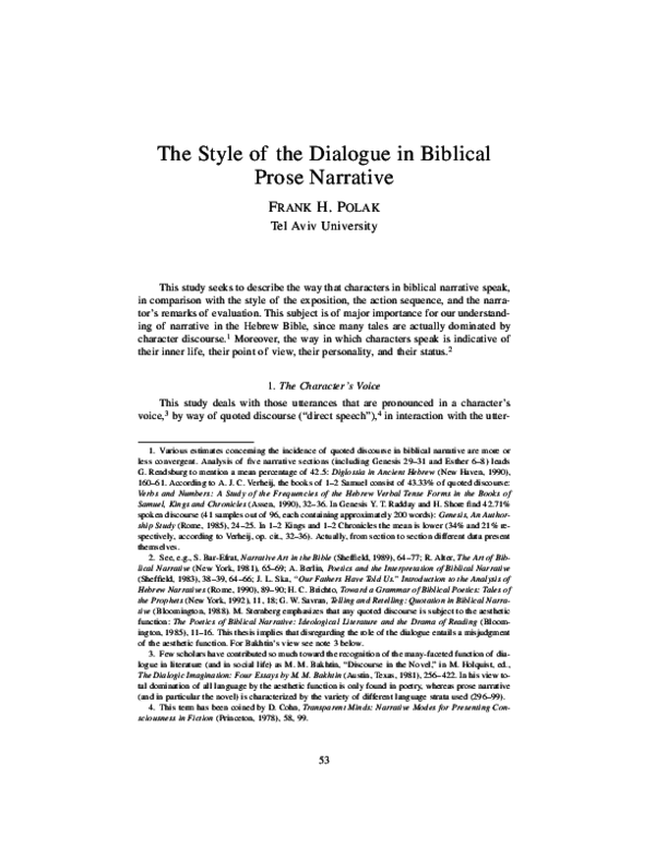 Marking Direct Discourse in the Hebrew Bible