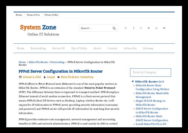 PDF) PPPo E Server Configuration in Mikro Tik Router System