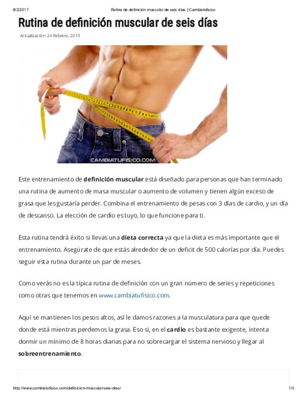 Dieta para definicion muscular pdf