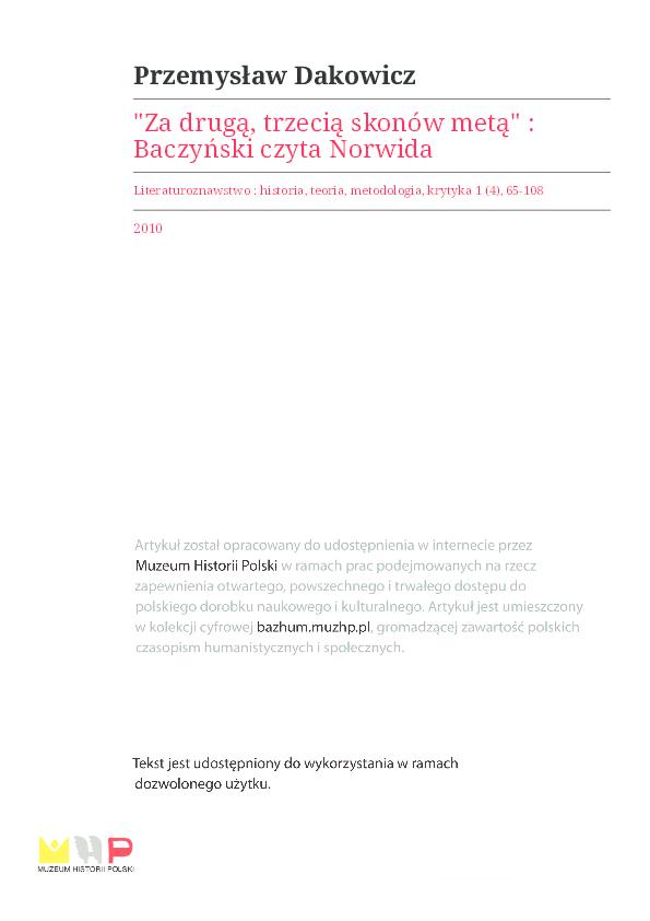 Pdf Przemysław Dakowicz Baczyński Czyta Norwidapdf