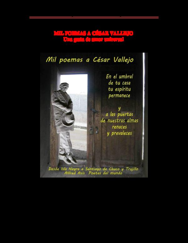 Pdf Mil Poemas A Cesar Vallejo Mil Poemas A César Vallejo