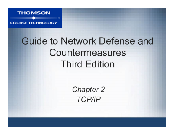 Guide To Network Defense And Countermeasures 3rd Edition Pdf