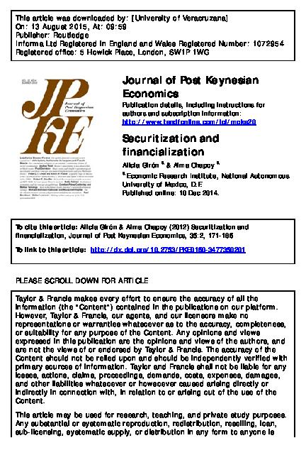 Economy and the world pdf financialization epstein