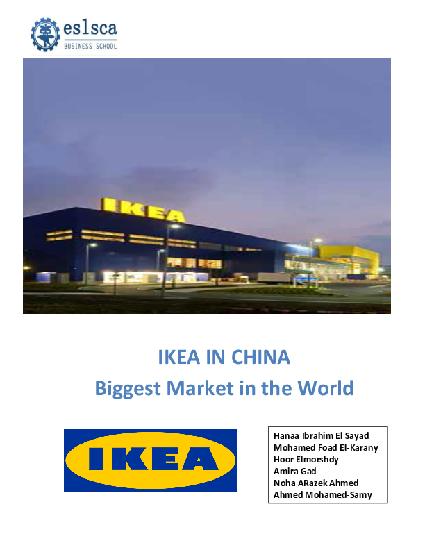 DOC) Financial Risks faced by IKEA in China | Hanaa Elsayad