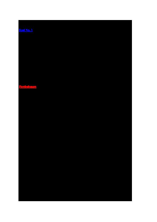 Kumpulan Contoh Soal: Contoh Soal Volume Tabung Tanpa Tutup
