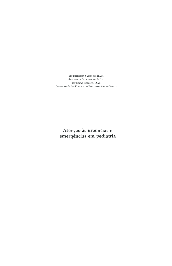 226038795 PDF) Atenção às urgências e emergências em pediatria MINISTÉRIO DA ...