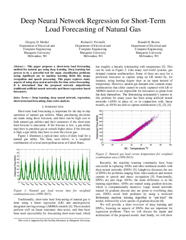 PDF) Deep Neural Network Regression for Short-Term Load Forecasting