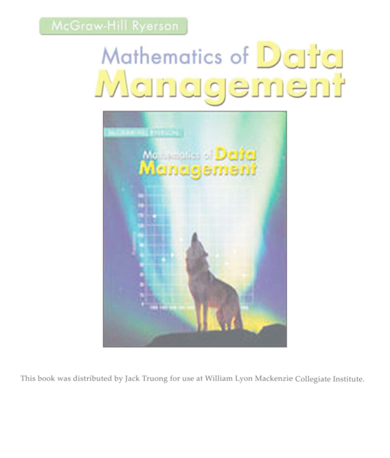 Pdf Mathematics Of Data Management Kefei Liu Academia Edu